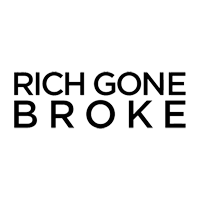 RICH GONE BROKE logo