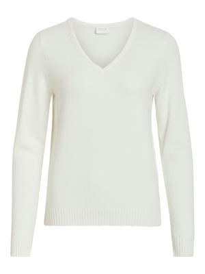 VIRIL L-S V-NECK KNIT TOP-NOOS logo