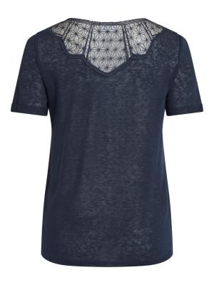 VISUMI S-S NEW BACK LACE TOP- logo