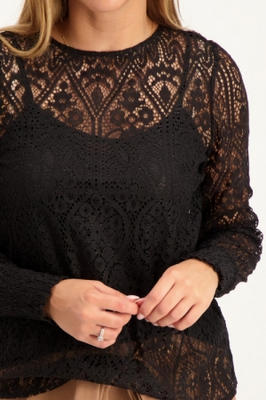 ONLMINA L-S LACE TOP WVN logo