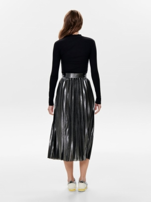 ONLHAILEY PLEATED SKIRT JRS 177931 Silver