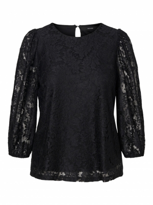 VMBONNA 3-4 LACE TOP WVN BF logo