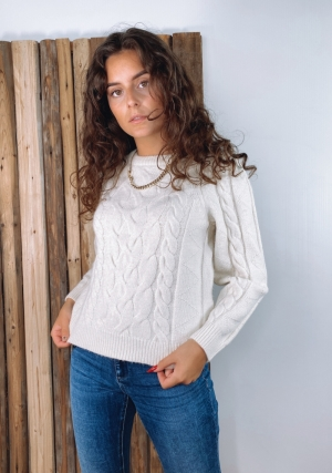 VMINGER 7-8 CABLE BLOUSE REP F logo